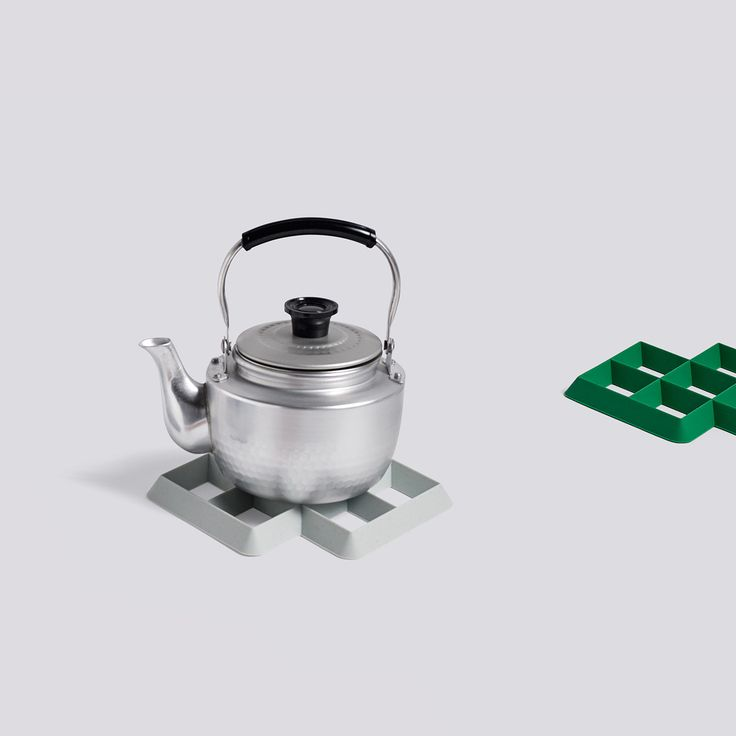 HAY Rhom Silicone Trivet: Designed by Shane Schneck for Hay, the Rhom Silicone Trivet is a contemporary and colourful take on a traditional kitchen pot stand. Its rhomboid-shape is moulded from heat-resistant silicone, making it light to handle and non-abrasive against underlying surfaces