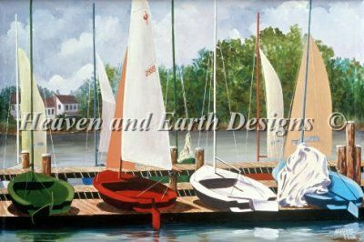 877 best cross stitch and embroidery ideas images on for Crossing the shallows tile mural