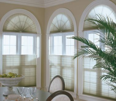 window arches need to be covered cellular shades are a stylish option if you don