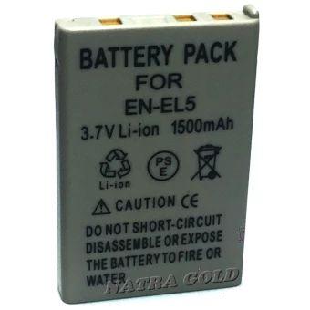 ขอแนะนำ  แบตเตอรี่กล้อง นิคอน Battery รุ่น EN-EL5 1500mAh for Nikon Coolpix5900, Coolpix 7900, Coolpix P3, P4, P80, P90, P100, P500, P510..Replacement Battery for Nikon(Gray)  ราคาเพียง  385 บาท  เท่านั้น คุณสมบัติ มีดังนี้ 1 Year Warranty ชนิดแบตเตอรี่Li-ion ความจุไฟ1500 mAh , 3.7 V รับประกัน1ปี Replacement Battery for Nikon ความจุ มิลลิแอมป์ มากกว่า ใช้ได้นานกว่าในแบตเตอรี่รุ่นเดียวกัน ภาพสินค้า เป็นสินค้าตัวเดียวกัน กับ ที่นำส่ง แน่นอน