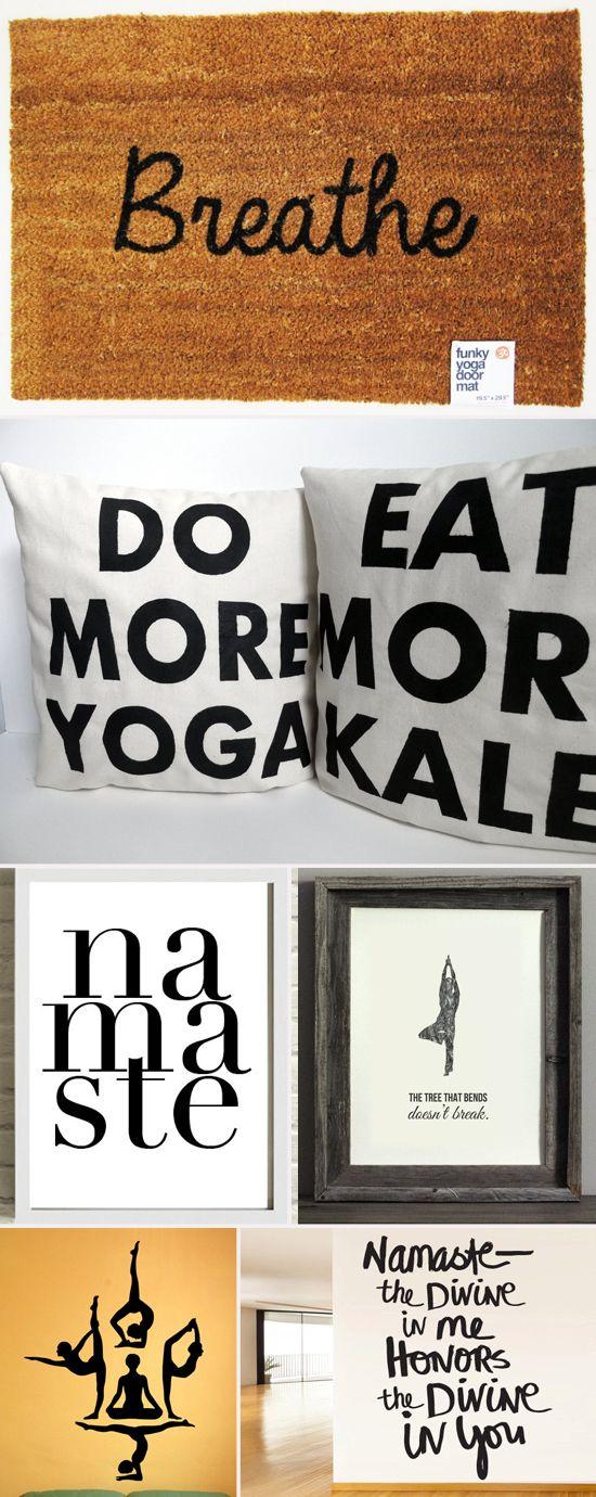 Yoga-positive home décor. #yoga #inspiration
