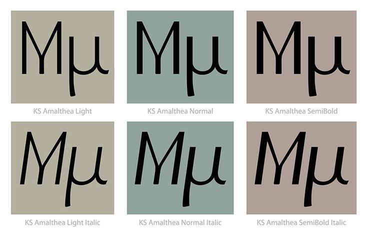 KS Amalthea text weights