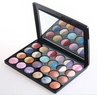 El nuevo cosmético profesional del envío libre 24 PC 48 color al horno seco mojado Paleta Sombra de Ojos