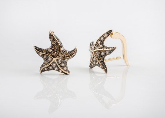 14K / 18K Solid Gold & Diamonds Star Ladies Luxury Attractive