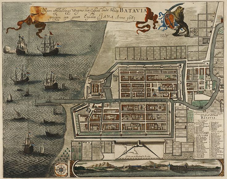 Dutch Batavia in 1681, built in what is now North Jakarta. This Day in History: Mar 20, 1602: Dutch East India Company founded http://dingeengoete.blogspot.com/