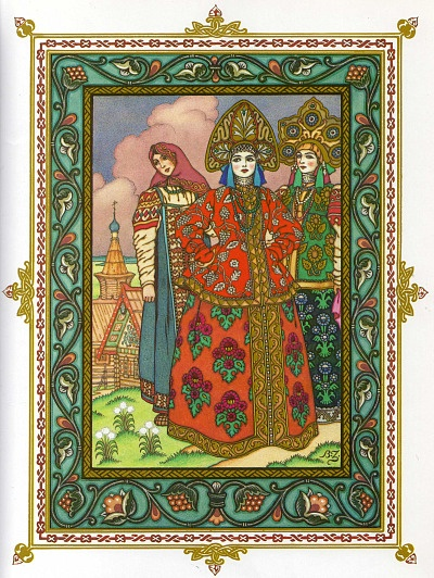 Vasilissa and her sisters - illustrations by Ivan Bilibin