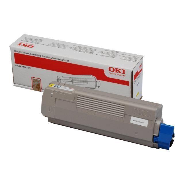 OKI Cartouche toner 44315305 – Compatible C610 – Jaune – Capacité standard 6.000 pages