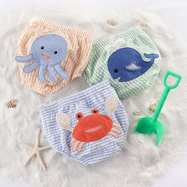 """Beach Bums"" 3-Piece Diaper Cover Set"