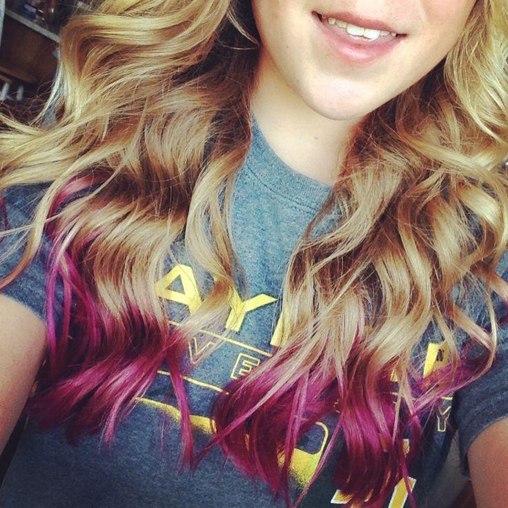 Cute dip dye hair!