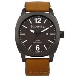 Montre Superdry Bracelet Cuir Marron Homme 137 euros
