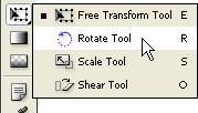 InDesign CS5 Free Transform & Rotate tool