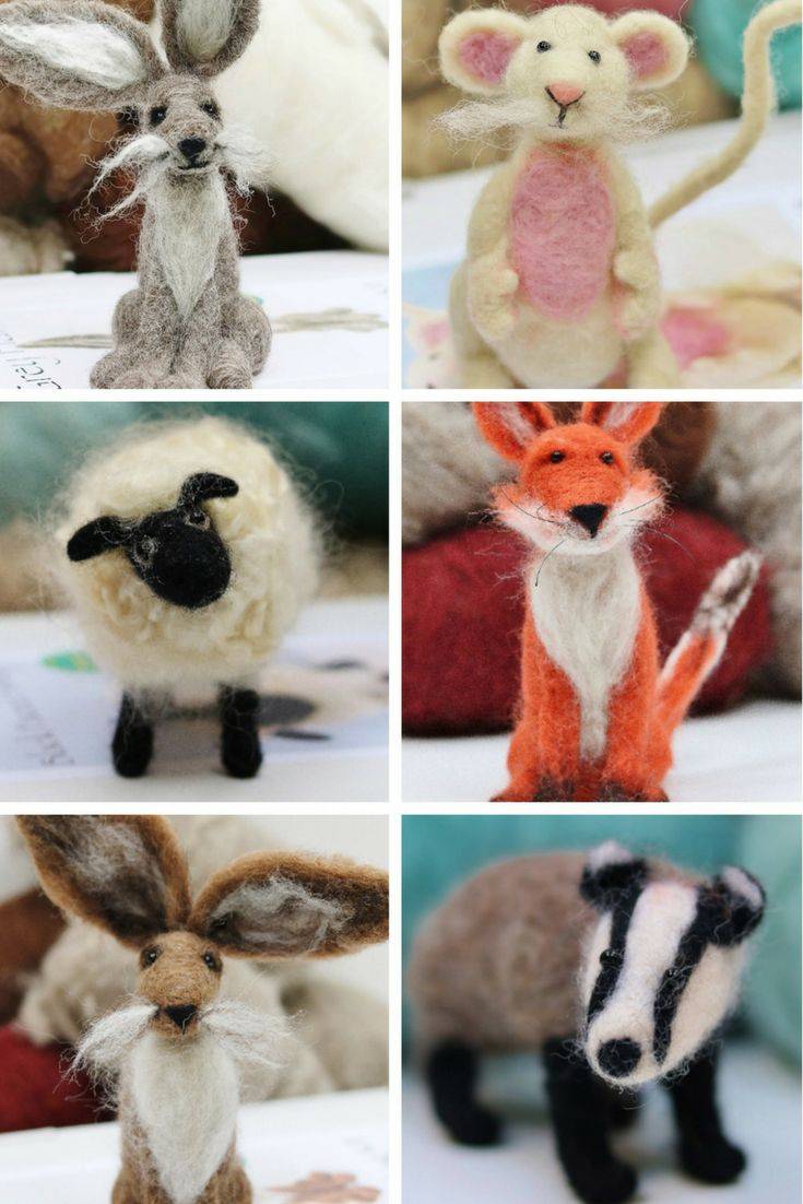 Beautiful felting starter kits suitable for beginners