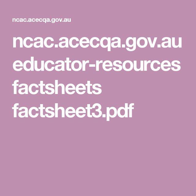 ncac.acecqa.gov.au educator-resources factsheets factsheet3.pdf