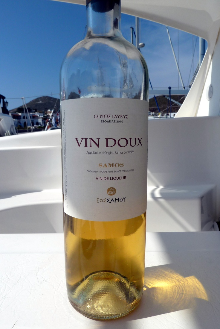 Sweet wine from Samos, Greece  Delicious with blue cheese!
