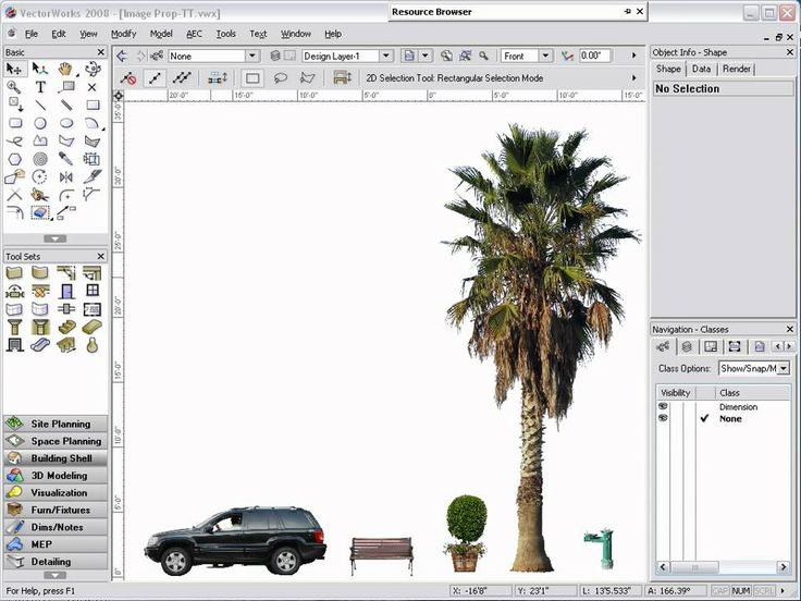 Creating Image Props in Vectorworks