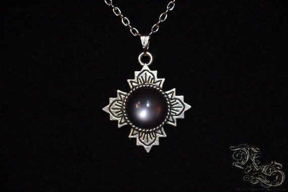 Necklace Sanctuary black cross cabochon dark gothic medieval North Shaman