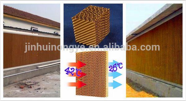 パッドとファンの温室の冷却システム、 養鶏場の空気冷却システム販売のための