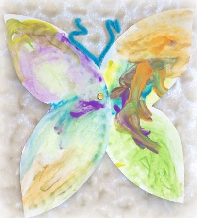 finger paint butterfly toddler craft