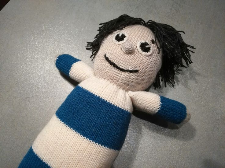 Doll Sipsik  knitted toy, estonian children favourite friend to play with