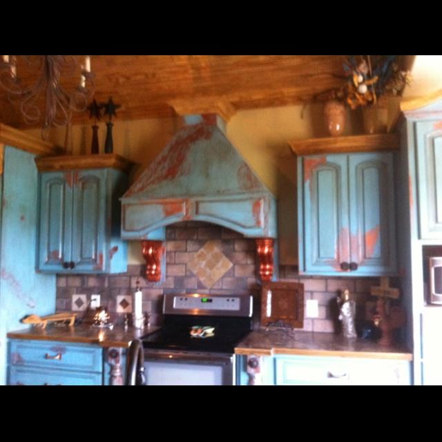 Copper, Blue Kitchens, 2014 Ideas, Kitchen Cabinets Love, Kitchen