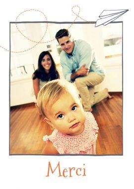 Portrait de famille original pour cette carte de remerciements de naissance à personnaliser en ligne : http://www.lips.fr/impression/carte-remerciement-naissance/format-105-x-148-2p-modele.html?modele_id=818  #remerciements #naissance