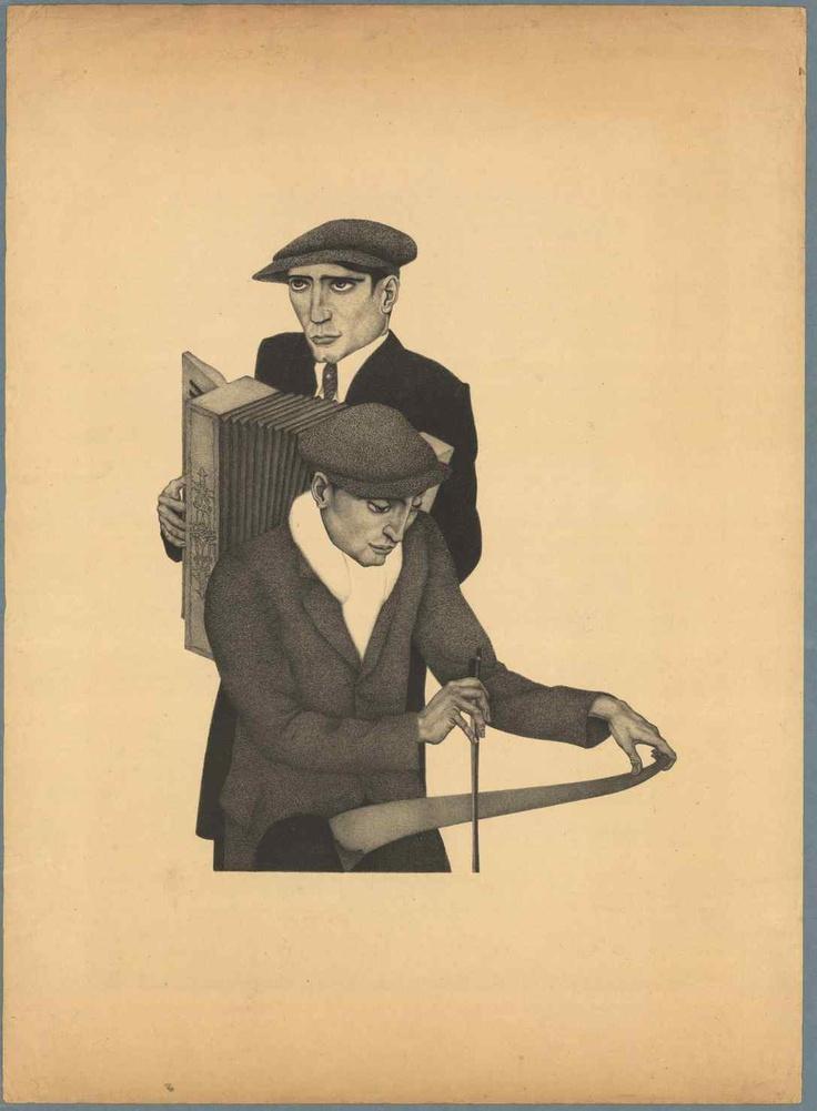 litho 'Zingende zaag' (1931)
