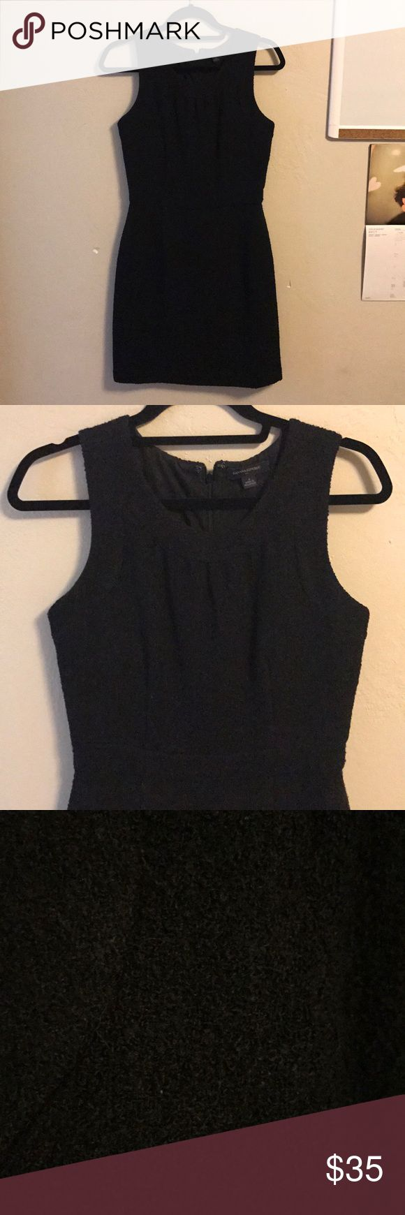Banana Republic black cocktail or work dress Texture on shell- 40% wool & 46% rayon -thicker material so it's a purchase that will last -great black dress, fancy enough for a cocktail dress and simple enough to be a work dress Banana Republic Dresses Mini