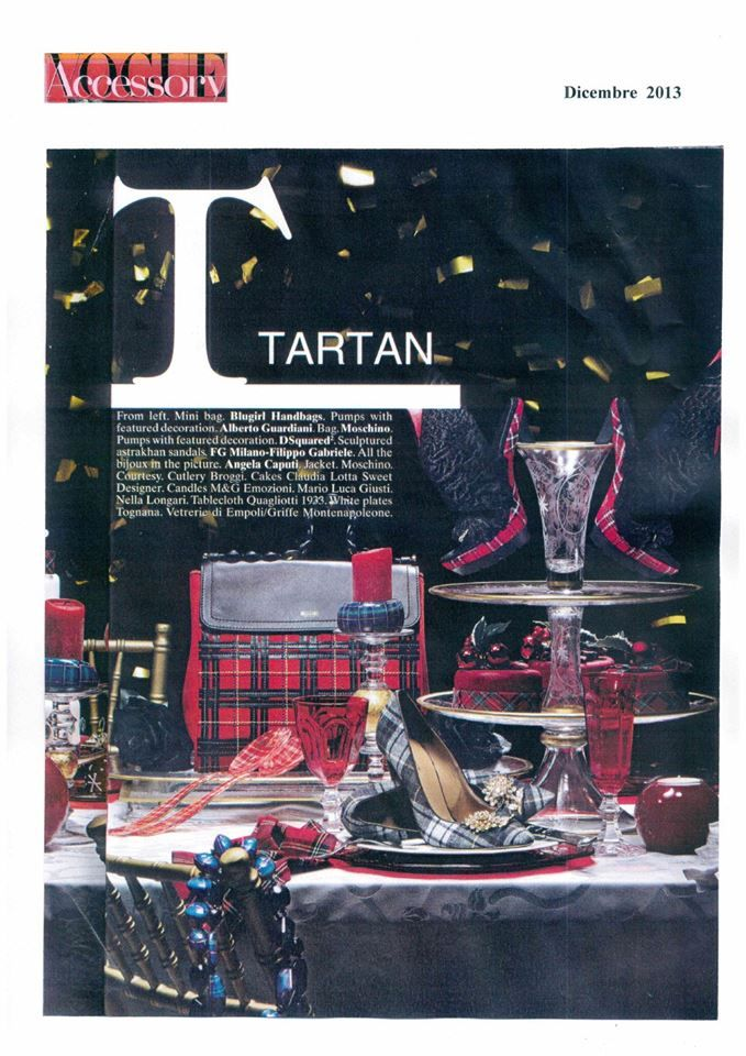 """Our model """"Lucrezia"""" with Tartan on Vogue Accessory … page 145 !!!"""