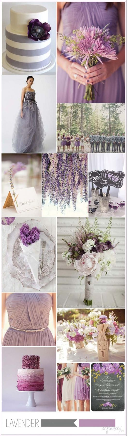 ♡ #Lavender #wedding ... For wedding ideas, plus how to organise an entire wedding, within any budget ... https://itunes.apple.com/us/app/the-gold-wedding-planner/id498112599?ls=1=8 ♥ THE GOLD WEDDING PLANNER iPhone App ♥  For more wedding inspiration http://pinterest.com/groomsandbrides/boards/ photo pinned with love & light, to help you plan your wedding easily ♡