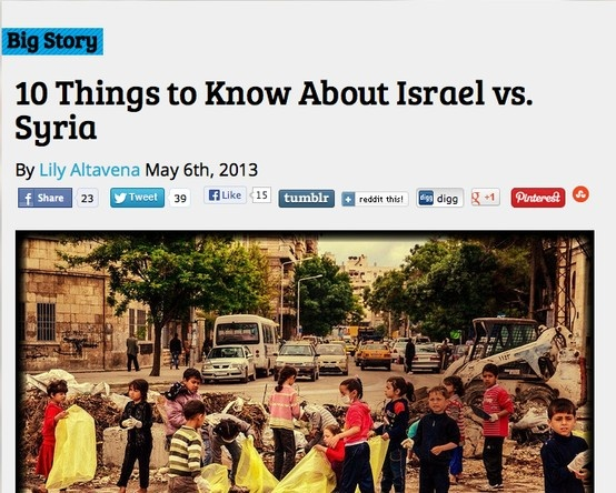 May 6 2013 Analysis 10 Things To Know About Israel Vs Syria
