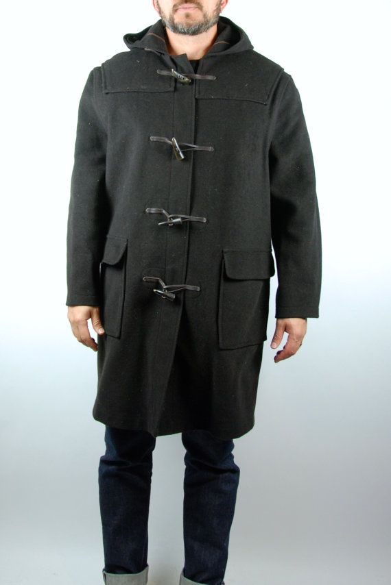Gloverall Duffle Coat with Hood and Antler Toggles by DesertMoss