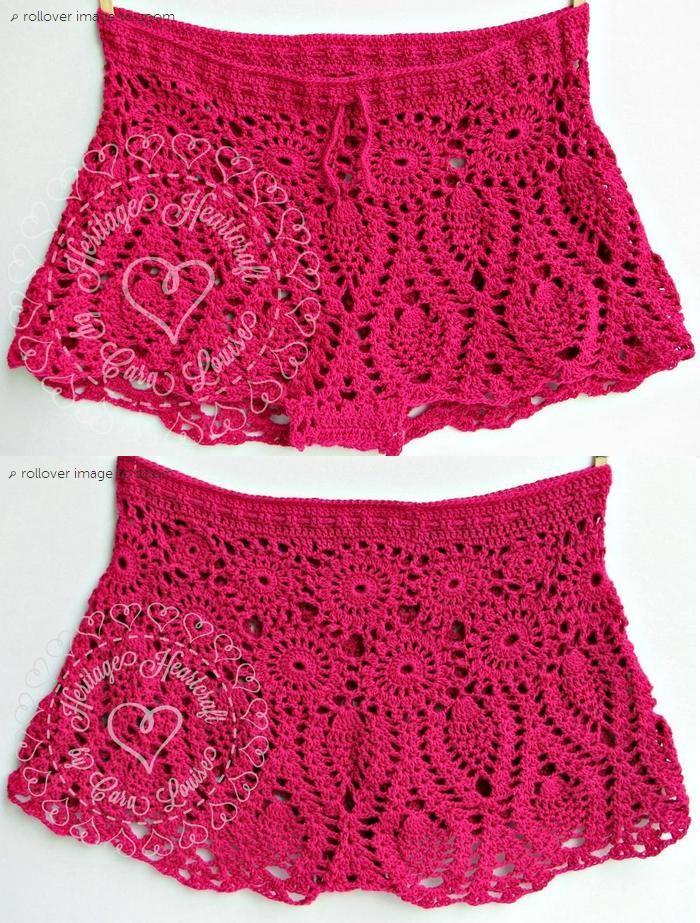 Pineapple Lace Bikini Shorts Pattern