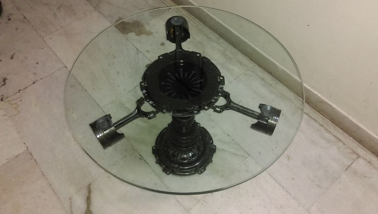 Center Coffee table made from car parts