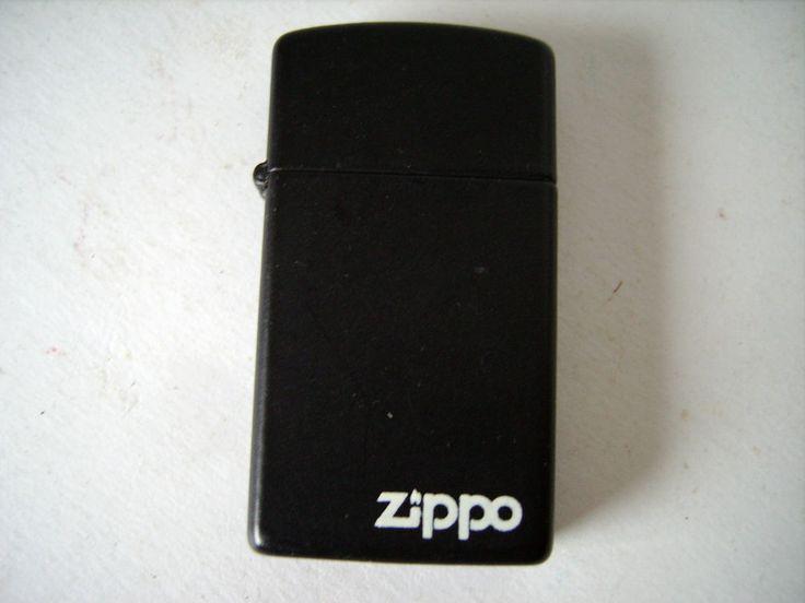 Zippo Lighter Black Slim Made by Zippo Niagara Falls Ontario dated 1992