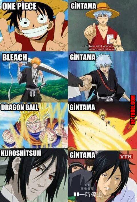 Gintama aime faire des clins d'œil aux concurrents... - Be-troll - vidéos humour, actualité insolite