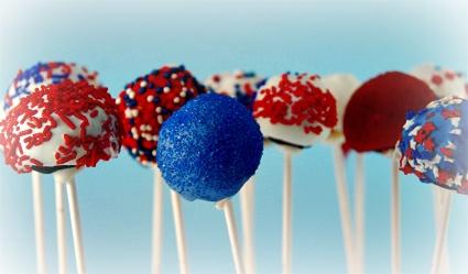july 4th cake balls