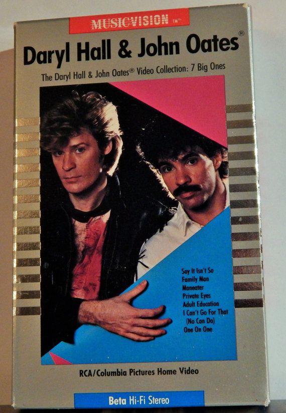 Rare Daryl Hall & John Oates  1985 BETA Tape Music Video Collection 7 Big Ones. Beta Hi-Fi Sound,Rare Video Format,Like New;Hall and Oates