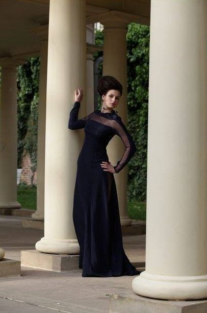 Fashion designer Dominika Vespa. Evening dress.