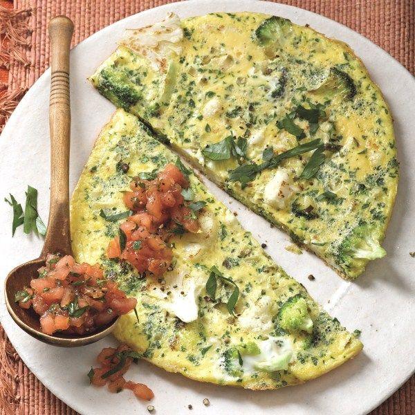 Omelet met gremolata (een mengsel van citroenrasp, knoflook en peterselie) #WeightWatchers #WWrecept