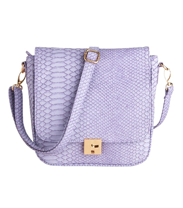 Shocked at how affordable this lilac snakeskin bag is!