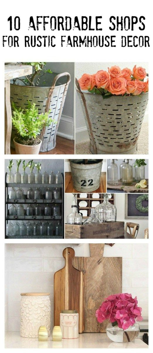 10 Affordable Decor Shops For the Rustic Farmhouse Lover