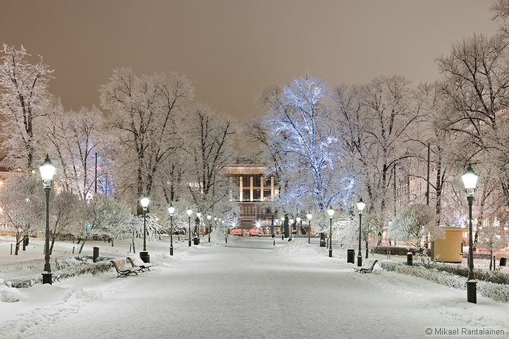 Esplanade Park, Helsinki, Finland http://www.mr-photography.com/galleries/helsinki_winter10/mr100111_img_1794.htm.