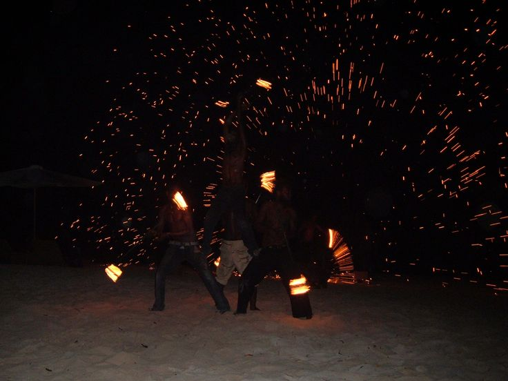 Local group of Fire Dancers performs on Erakor Island. -was amazing!