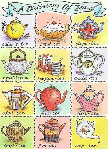 A fun dictionary of #tea A cute and different approach from my Civili(ty), Prosperi(ty) and Possibili(ty)!