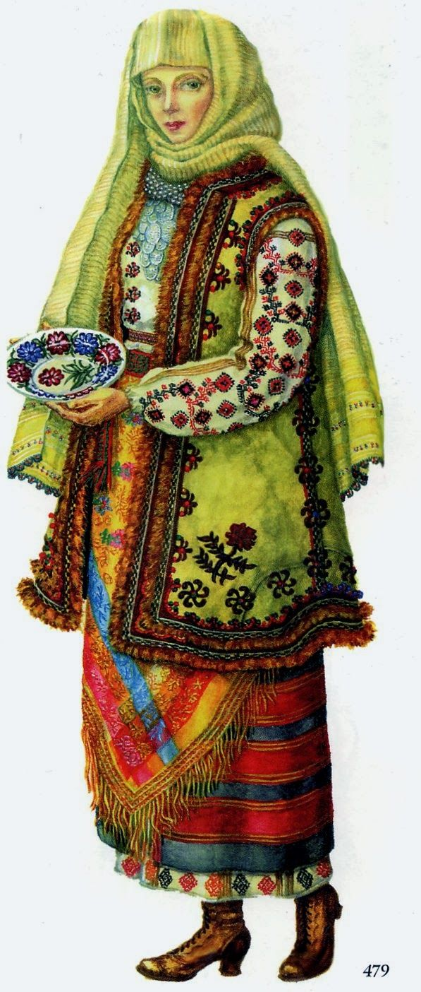 FolkCostume&Embroidery: Costume and Embroidery of Bukovyna, Ukraine, part 2 khlopianka
