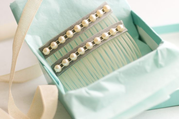Pearl Hair Combs for Lily -       When I was thinking about making something for her, I couldn't get away from thinking how beautiful the cream pearls woul