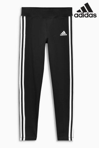 adidas Black 3 Stripe Legging