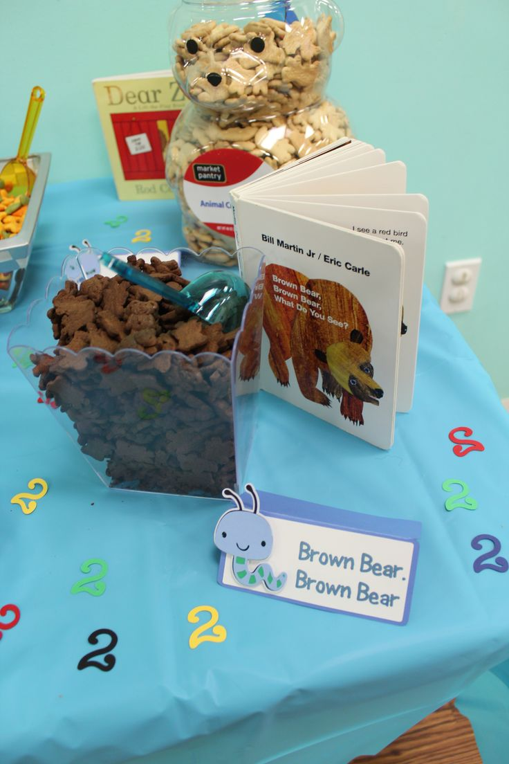Brown Bear Brown Bear Snacks, Bookworm Signage