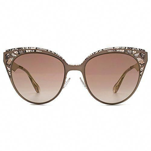 8e40b9c5b3f Jimmy Choo Estelle Lace Cateye Sunglasses in Brown Rose Gold ESTELLE S ENZ  55