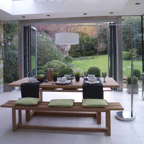 Garden room dining area | Modern dining room ideas | Ideal Home | Housetohome